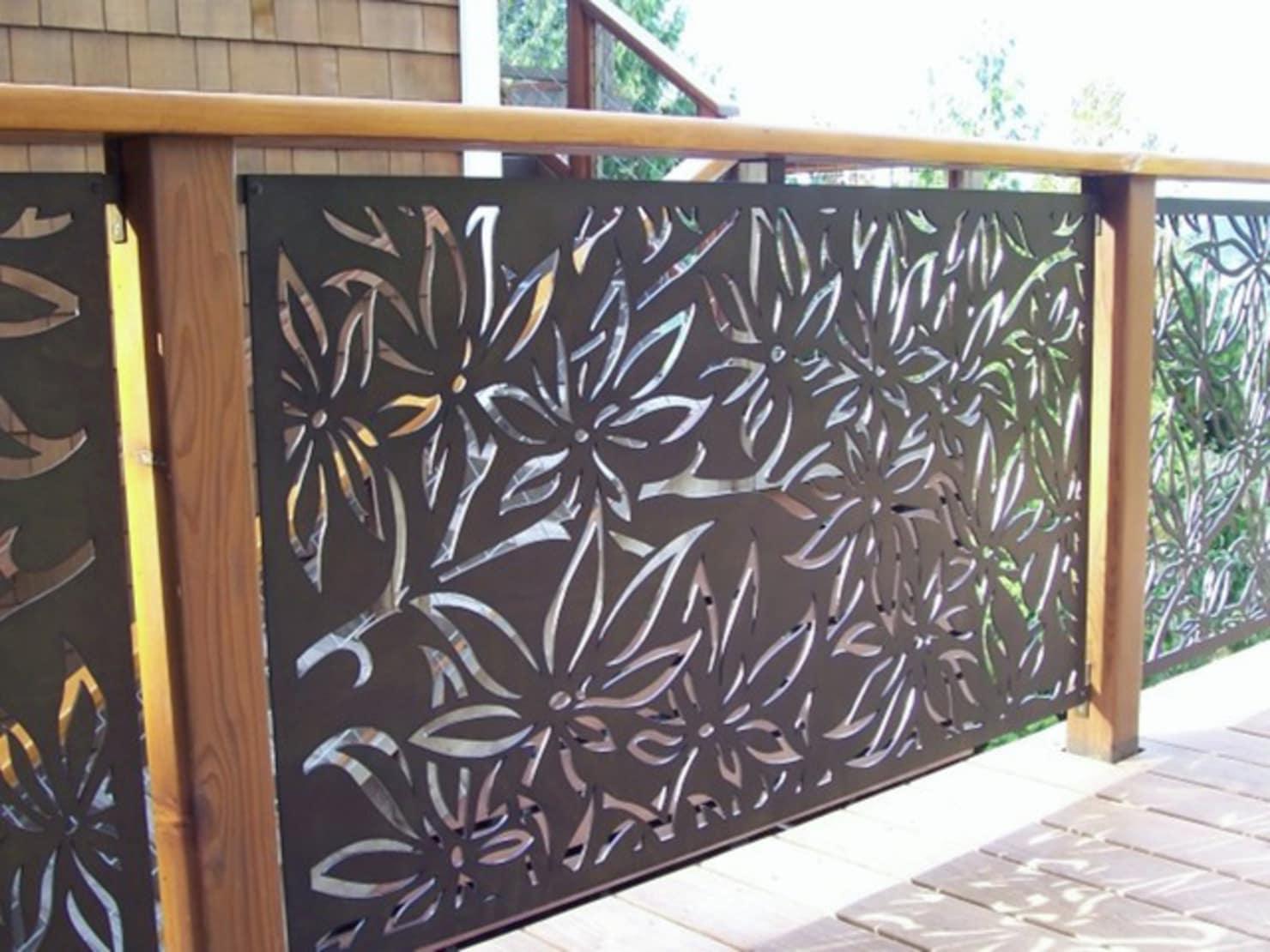 Забор из металлических листов