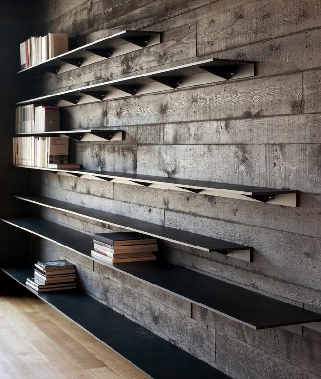 Отделка черным бетоном